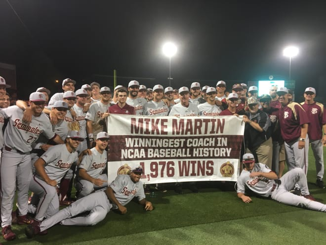 FSU's Mike Martin sets record for most wins in NCAA baseball history