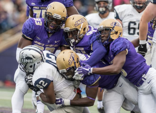 big sale b5595 fe900 DukesofJMU - Robinson's INT Sparks No. 1 JMU In Shutout Of ...