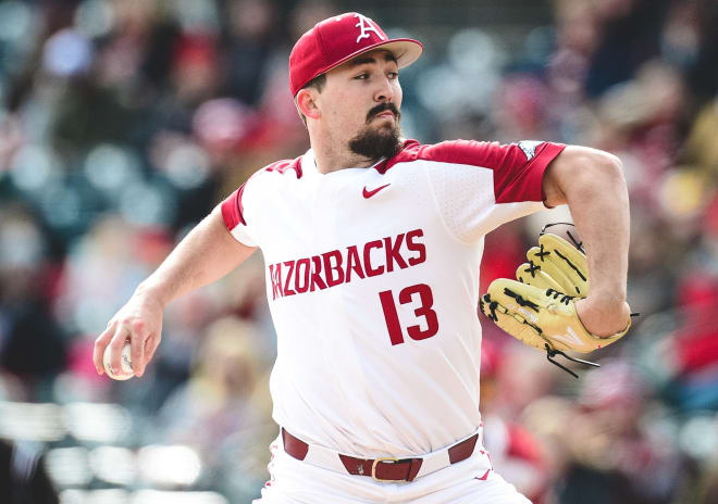 Connor Noland was dominant in Arkansas' season opener against Eastern Illinois.