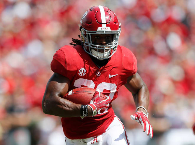 Alabama Crimson Tide running back Najee Harris rushed for 783-yards last season off 117 attempts