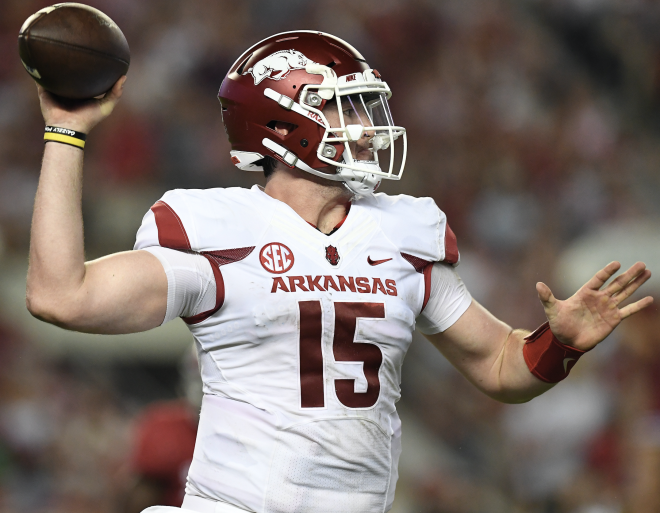 Arkansas QB Kelley likely to play again for injured Allen
