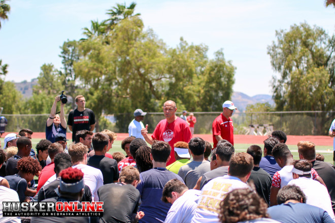 Nebraska hosted 165 prospects at their Satellite Camp in Los Angeles on Sunday.