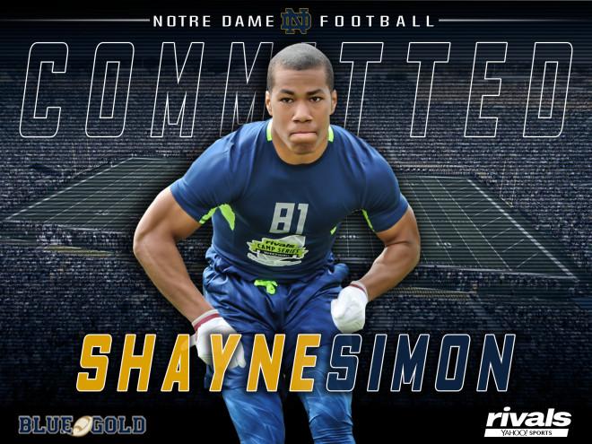Notre Dame beats out Big Ten powers for versatile defender Shayne Simon