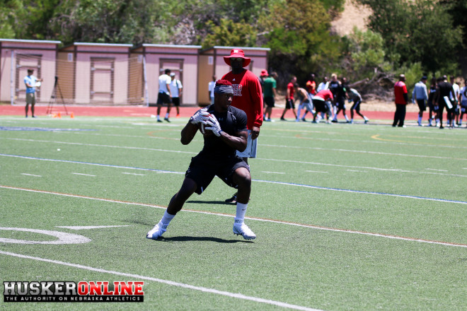 ATH Nathan Tilford worked out with the running backs