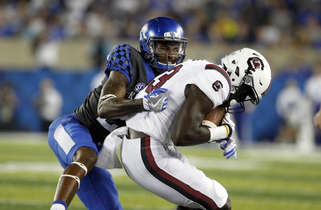 Kentucky beats SC  in its SEC opener