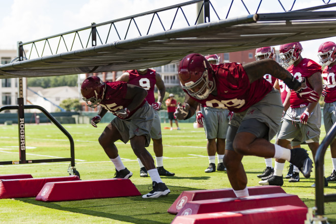 Alabama practice report: Tide takes field in full pads