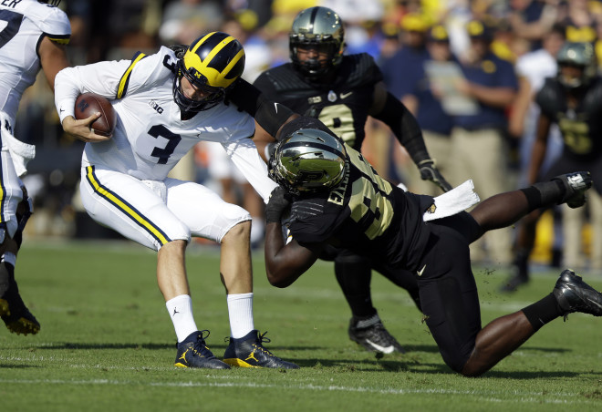 Michigan QB Wilton Speight out 'multiple weeks'