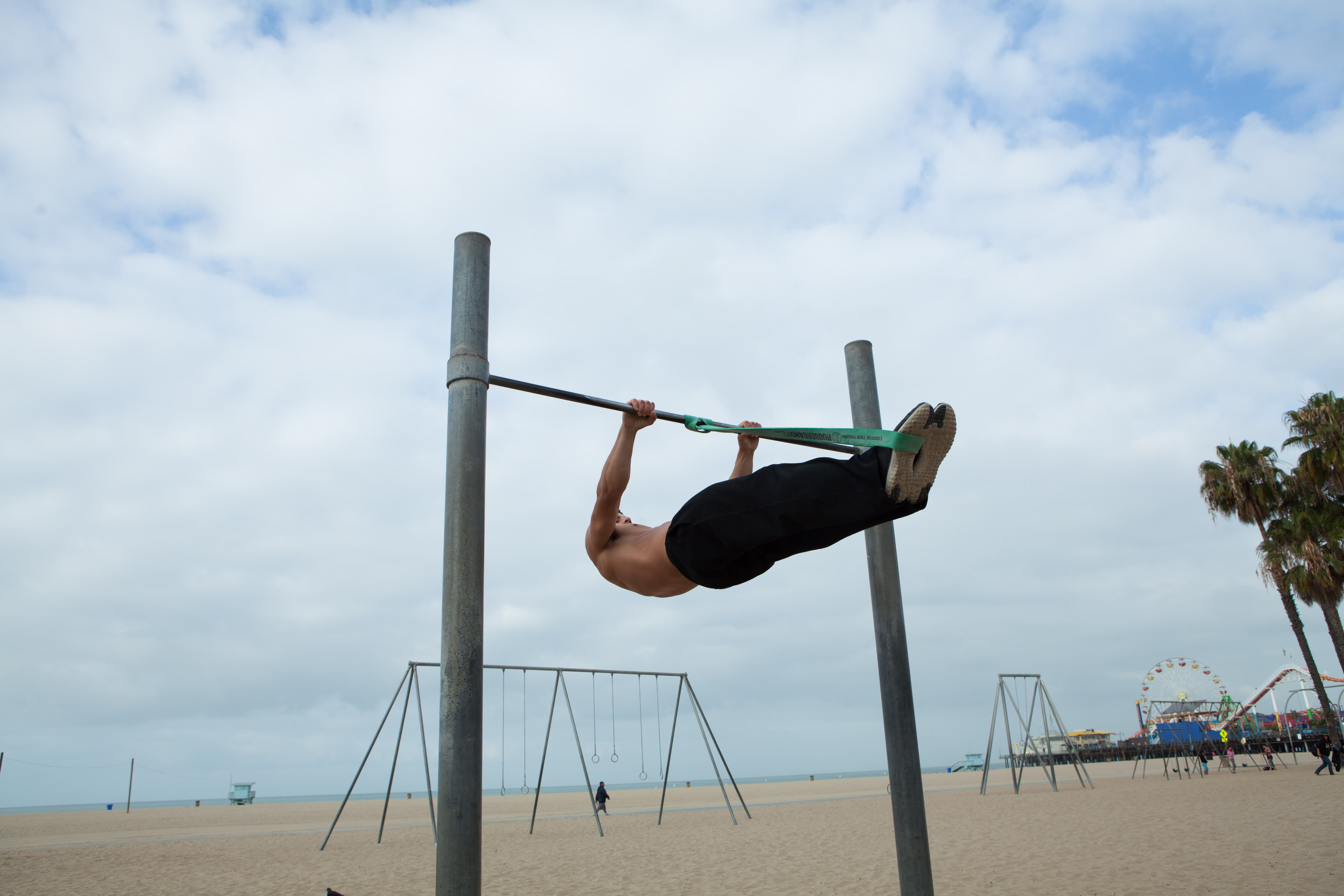 Full Front Lever with Resistance Bands