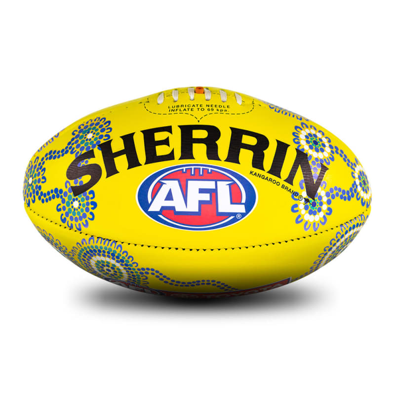 2019 Sir Doug Nicholls Round Game Ball - Yellow