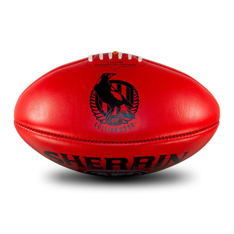 AFL Team Leather Ball - Collingwood