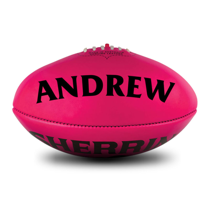 Personalised Sherrin KB Pink Poly - Size 5