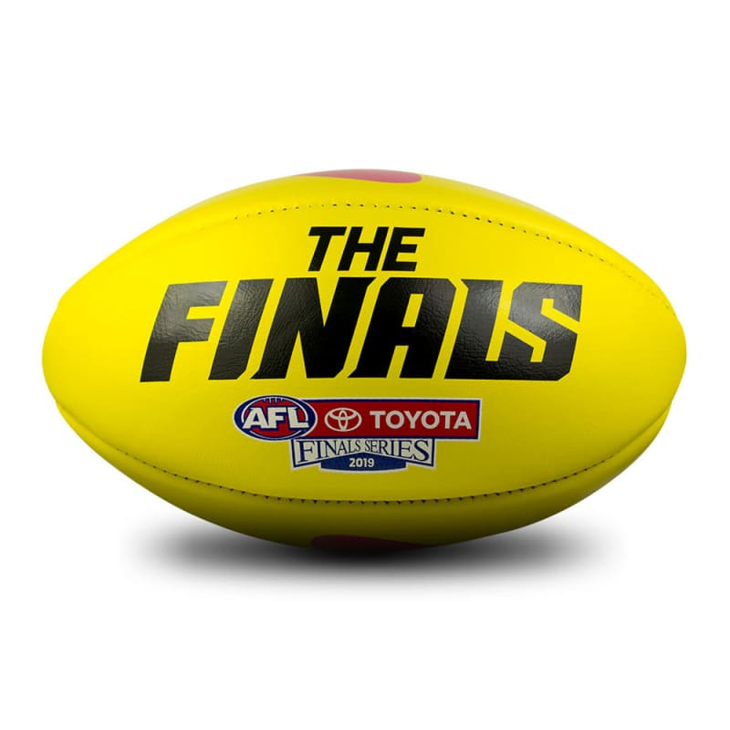 2019 Toyota AFL Finals Series Game Ball - Yellow