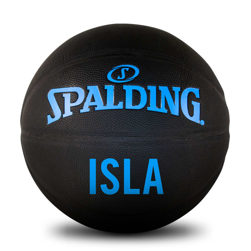 Personalised Basketball - Black & Sky Blue