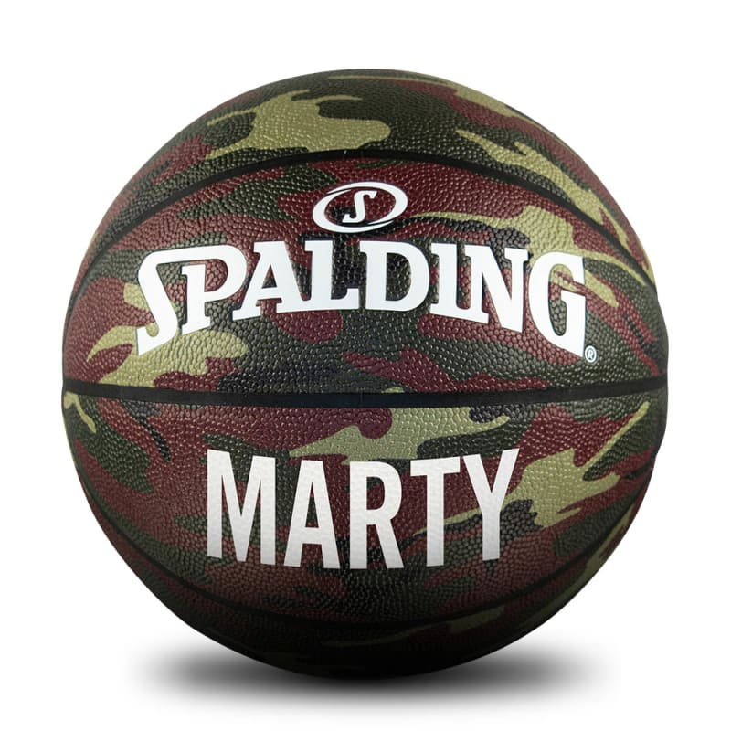 Personalised Basketball - Green Camo