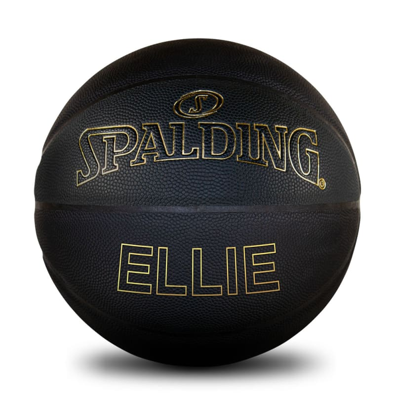 Personalised Basketball - Black & Gold