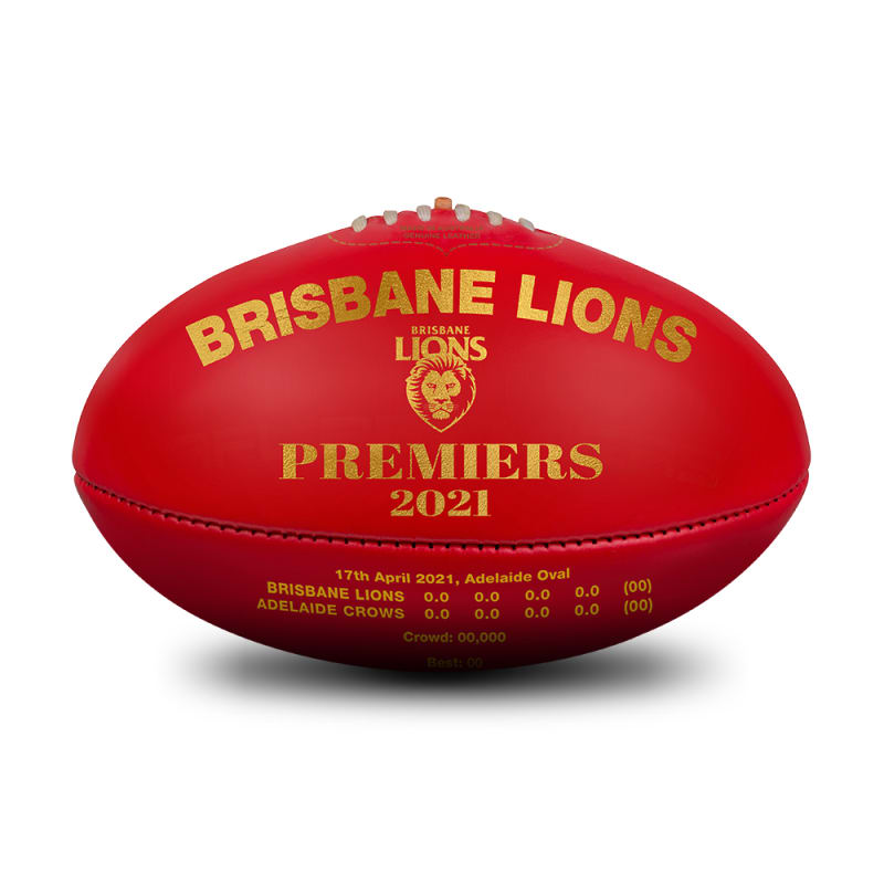 2021 Brisbane Lions AFLW Premiers Ball - Red