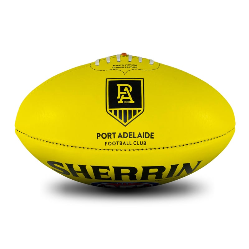 AFL Team Leather Ball - Port Adelaide