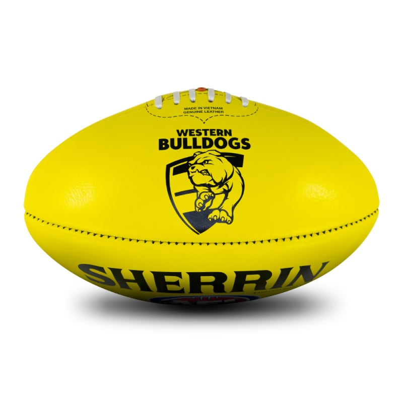 AFL Team Leather Ball - Western Bulldogs