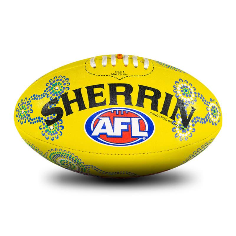 2021 Sir Doug Nicholls Round Rubber Ball - Yellow
