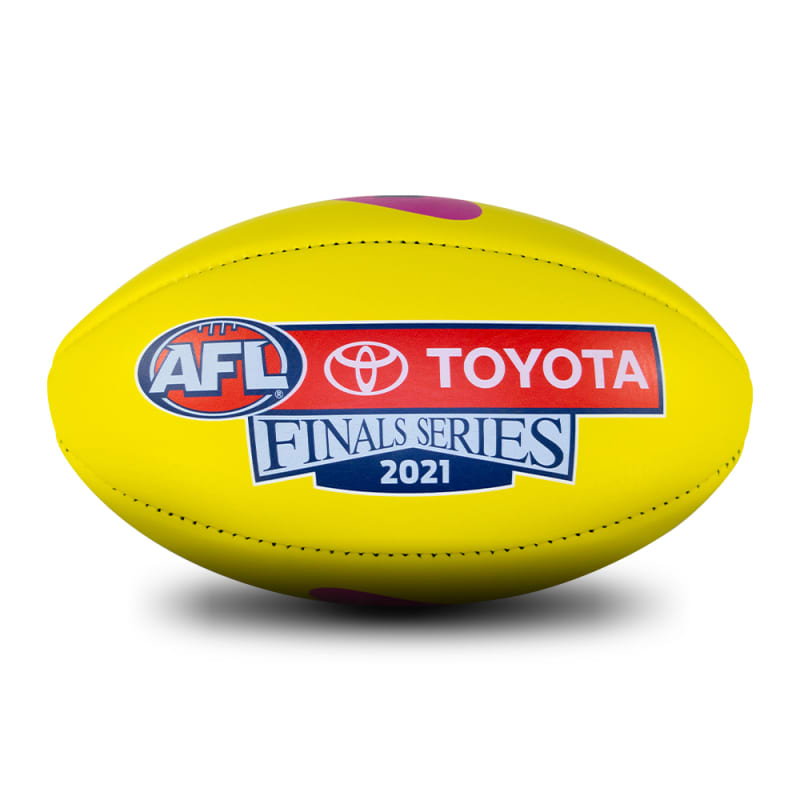 2021 Toyota AFL Finals Series Game Ball - Yellow