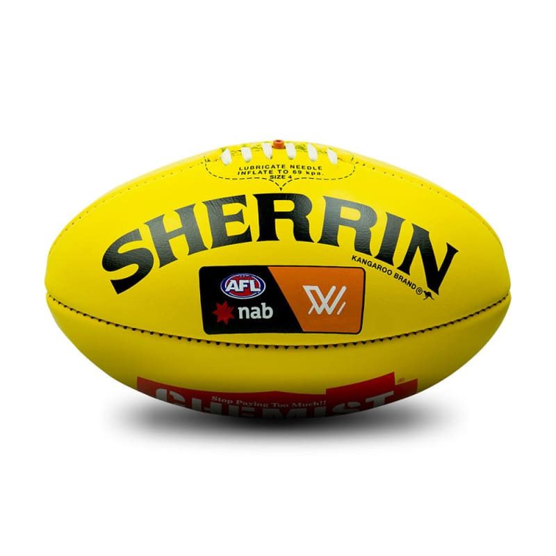 Official AFLW Game Ball - Yellow