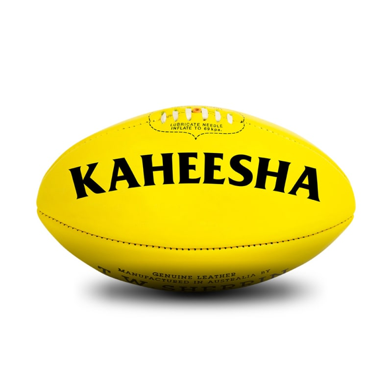 Personalised Sherrin KB Yellow - Size 4