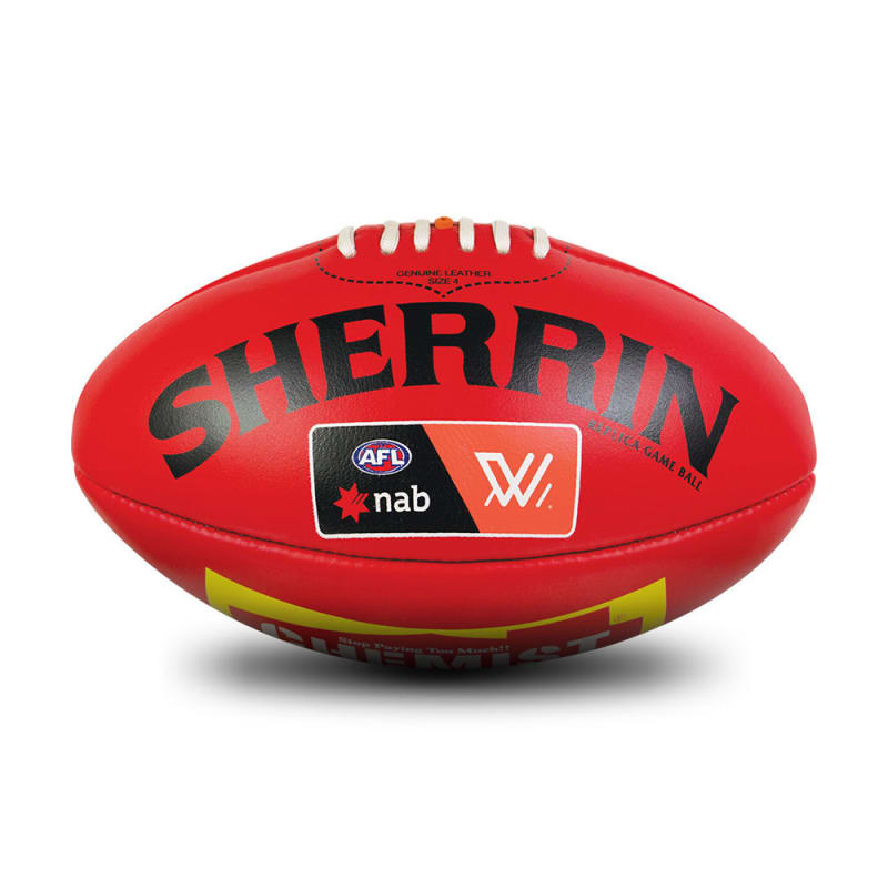 AFLW Replica Game Ball - Red