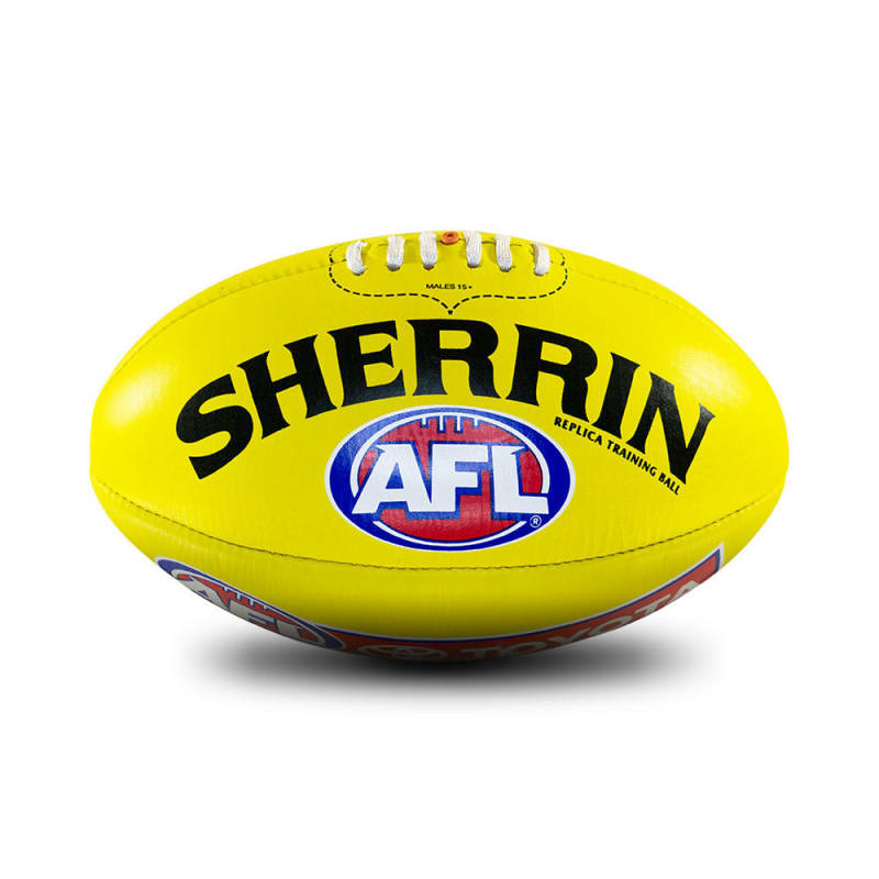 AFL Replica Training Ball - Yellow - Size 3