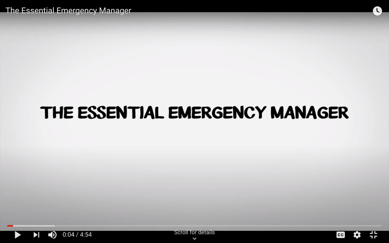 What is an Emergency Manager? [video]