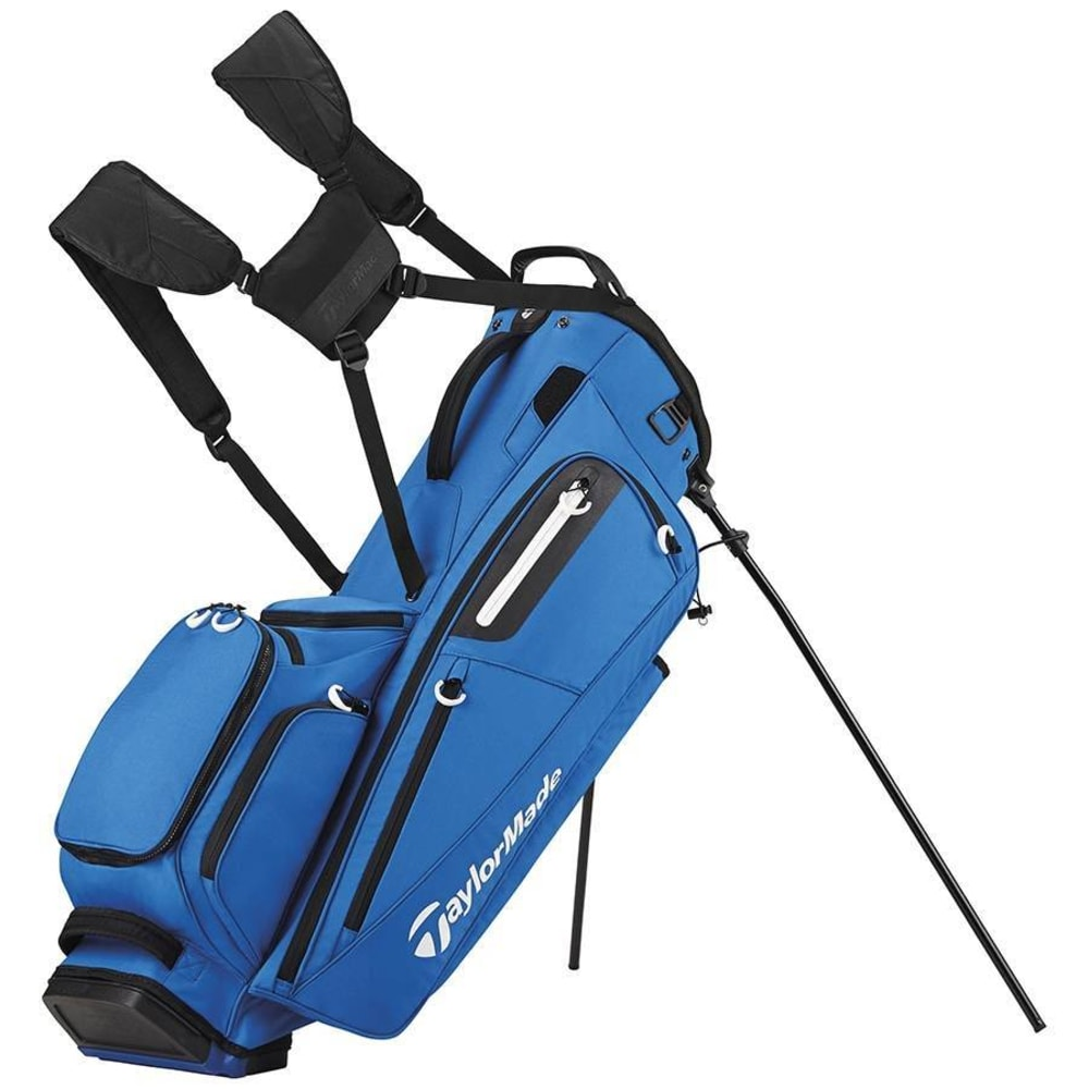 Taylormade Golf Bag >> Taylormade Golf Flextech Stand Bag Blue