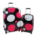 Swiss Case 4 Wheel 2Pc Hard Suitcases Pink Disco