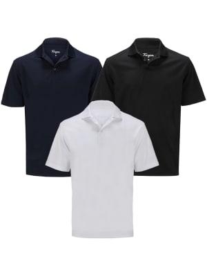 Forgan of St Andrews Premium Performance Golf Shirts 3 Pack - Mens