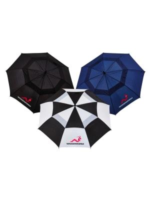 "3x Woodworm Double Canopy 60"" Golf Umbrellas"