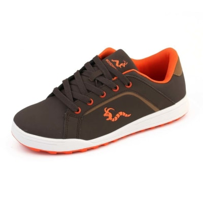 Woodworm Golf Surge V3 Mens Golf Shoes Brown/Orange