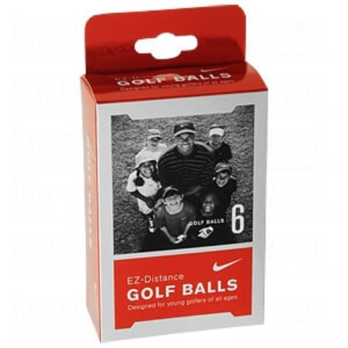 6 Nike Golf EZ Distance Junior Golf Balls
