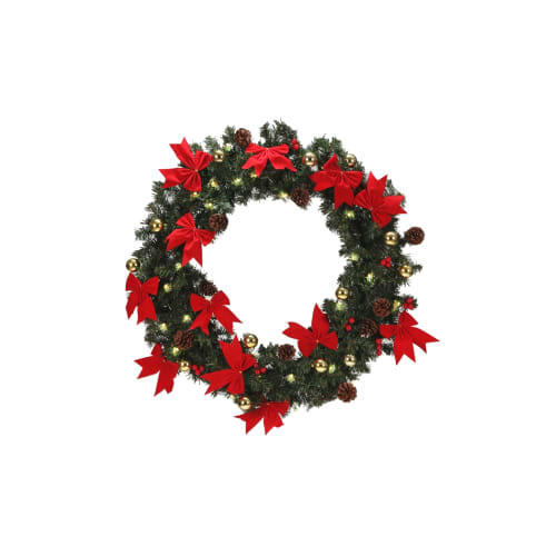 Homegear 75cm Christmas Wreath With Lights