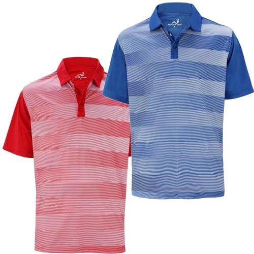 Woodworm Fairway Stripe Golf Polo Shirt 2 Pack