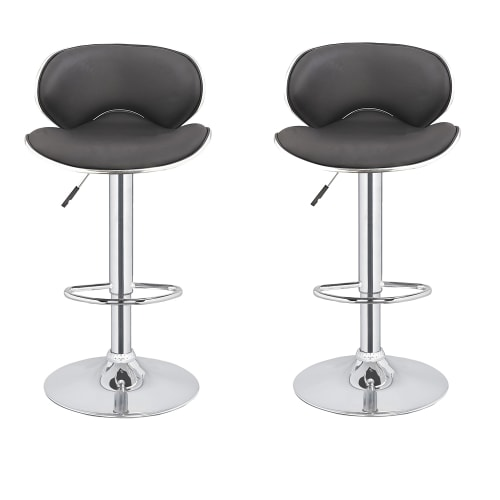2x Homegear M0 Cherner Adjustable Swivel Bar Stool