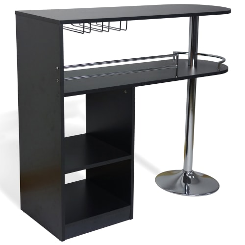 OPEN BOX Homegear Kitchen Cocktail Bar Table - Black
