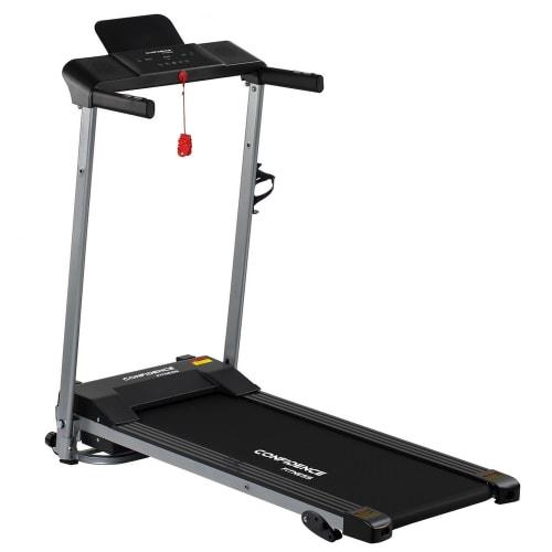 Confidence Fitness Ultra Pro Treadmill Electric Motorised Running Machine Silver/Black