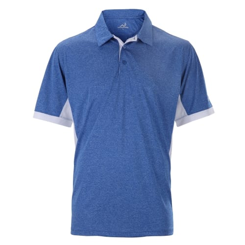 Woodworm Heather Golf Polo Shirts - Blue / White