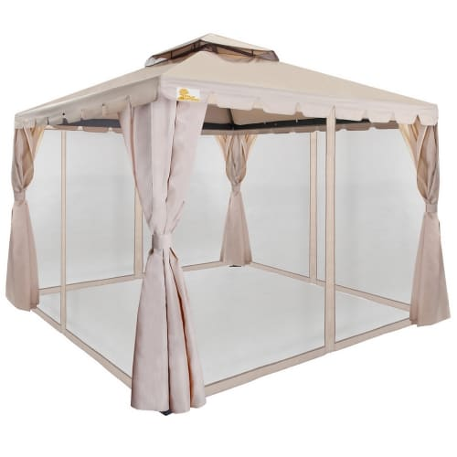 Palm Springs 10 X 30 White Party Tent With 8 Sidewalls