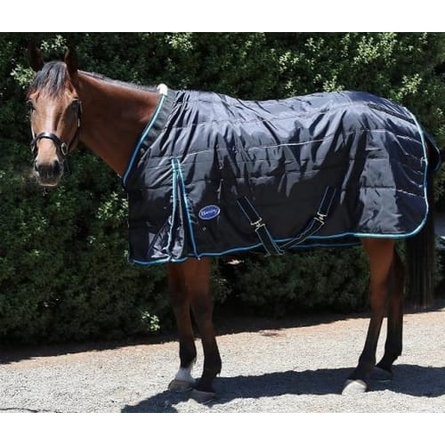 Barnsby 420D Equestrian Horse Stable Rug / Blanket - Standard Neck Black