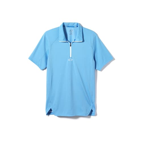 Oakley Golf Mens Zip-It Polo Shirt – Blue