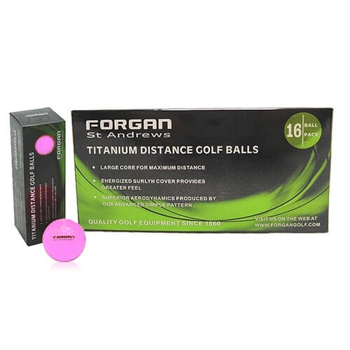 10x16 Forgan Golf Titanium Distance GolfBalls PINK