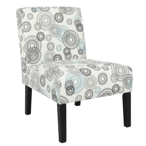 OPEN BOX Homegear Home Furniture Accent Armless Chair - Contemporary Designs - Mechanical Gears