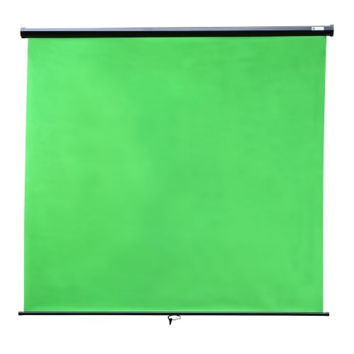 Homegear Wall Mounted Green Screen, Pull Down, 2m x 1.8m
