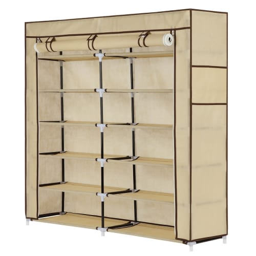 Homegear Large Free Standing Fabric Shoe Rack Storage