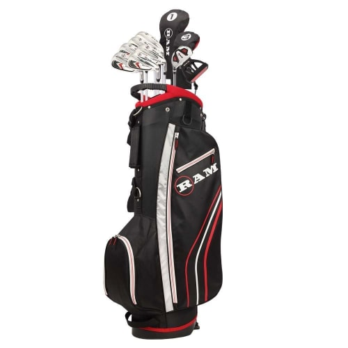 Ram Golf Accubar 13pc Golf Clubs Set - Graphite Shafted Woods, Steel Shafted Irons - Mens Right Hand - Stiff Flex