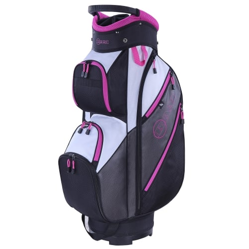 Ram Golf Lightweight Ladies Trolley Bag with 14 Way Dividers Grey/Pink